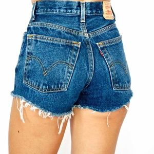 Levis 501 Button-fly cutoff shorts high-waist